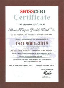 گواهینامه سیستم مدیریت کیفیت بر مبنای ISO9001-2015